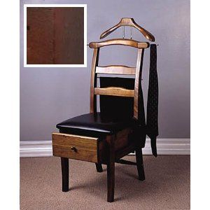 Proman Manchester Mahogany Chair Valet With Drawer Electronics Furniture Home Valet Chair