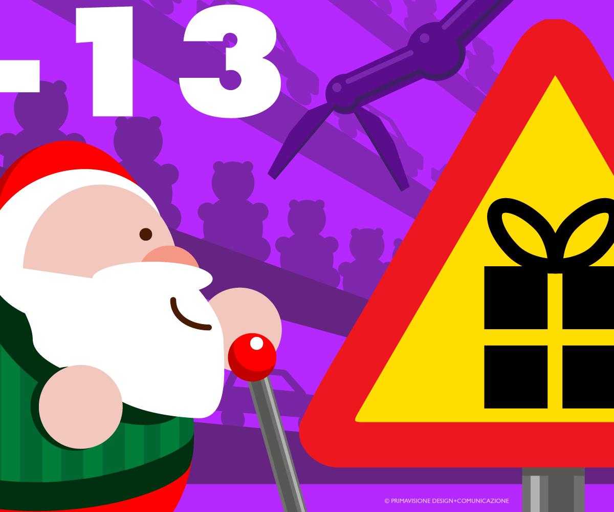 Attenzione: produzione dei nuovi giocattoli! Conto alla rovescia: 13 giorni  a Natale! Warning: new toys production. Countdow… | Natale, Babbo natale, Alla  rovescia