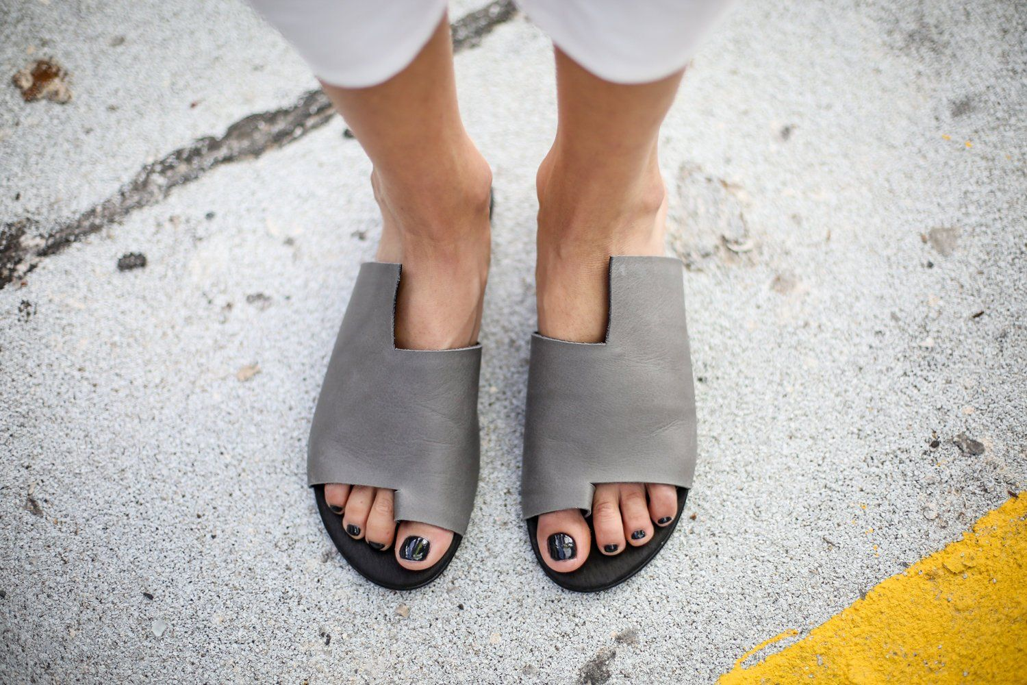 344e178c72168 Grey Leather Sandals Handmade Sandals Flat Sandals | Leathers ...