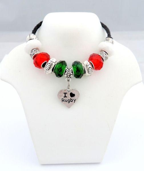 Welsh Rugby Colours Charm Bracelet Personalised Gifts Tainbraeworld Co Uk Charm Bracelet Pandora Charm Bracelet Pandora Charms