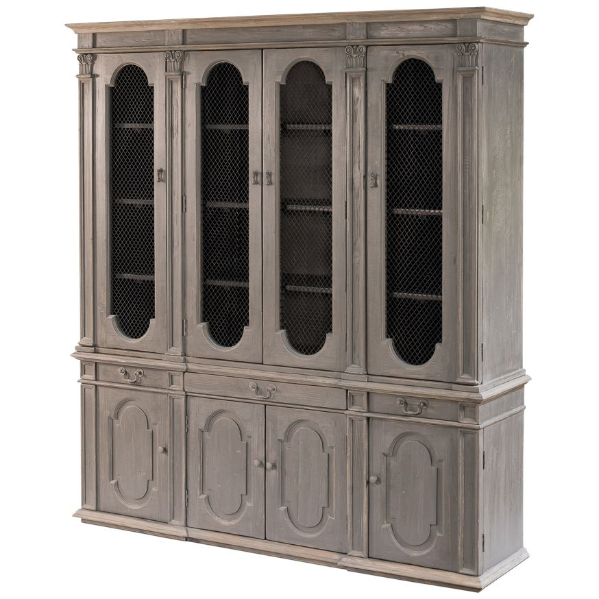 French Mesh Door Cabinet Farmhouse Chic French Country Furniture Country Furniture Shabby Chic Cabinet