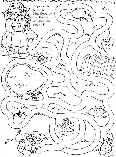 Coloring Book~Strawberry Shortcake Busy Book - Bonnie Jones - Picasa ...