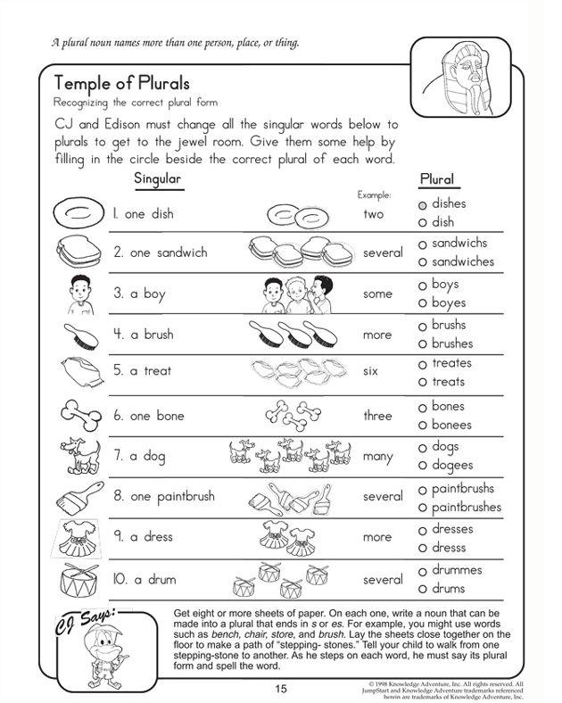 Singular Plural Singular And Plural Nouns Nouns Worksheet Plurals Worksheets