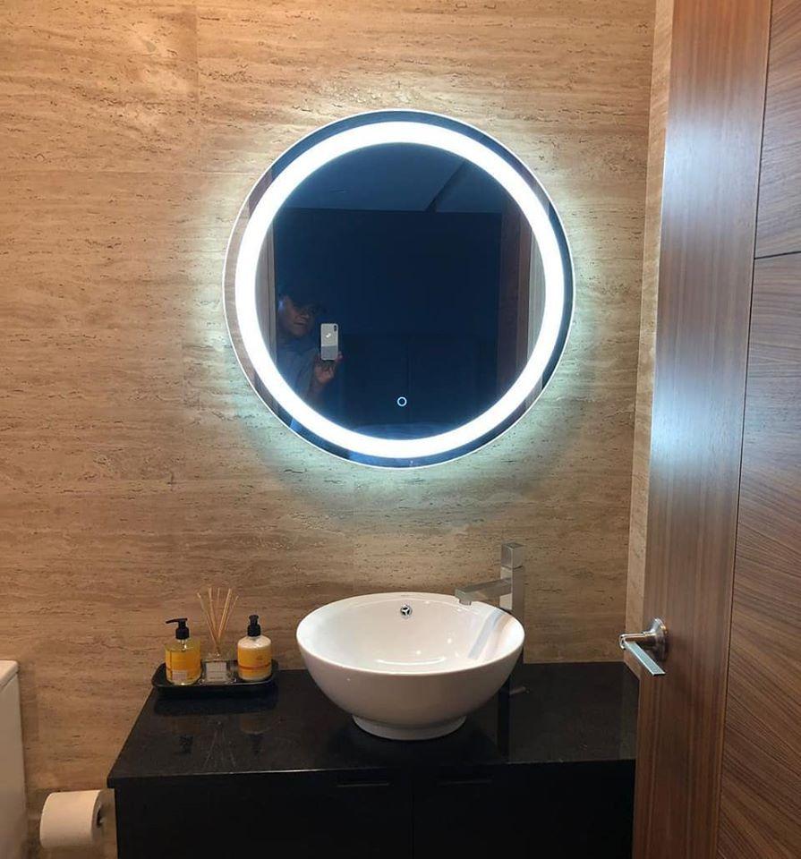 Espejo Redondo Con Luz Led En 2020 Con Imagenes Espejos