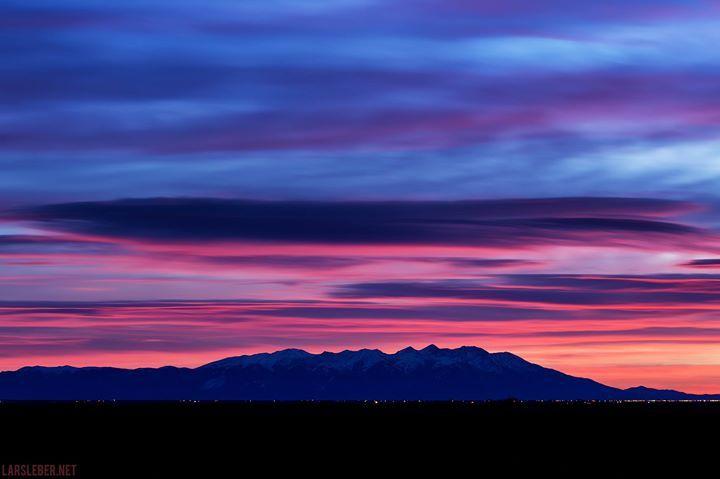 Lars Leber Photography ~ San Luis Valley Sunrise (Colorado). ~ The view from Monte Vista towards Blanca Peak during dawn
