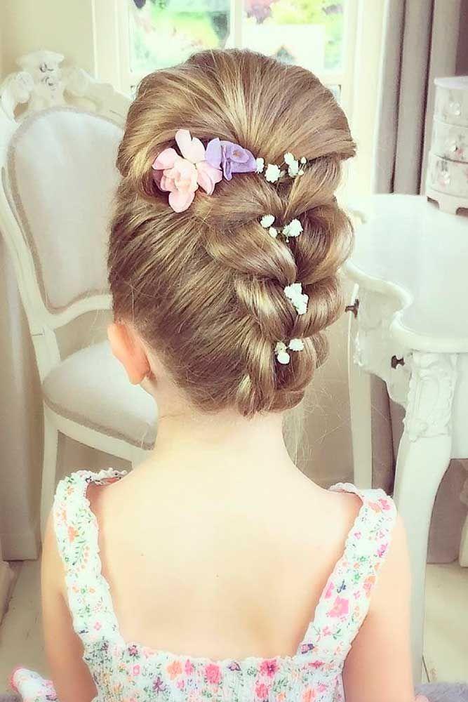 33 Cute Flower Girl Hairstyles 2017 Update Wedding Pinterest