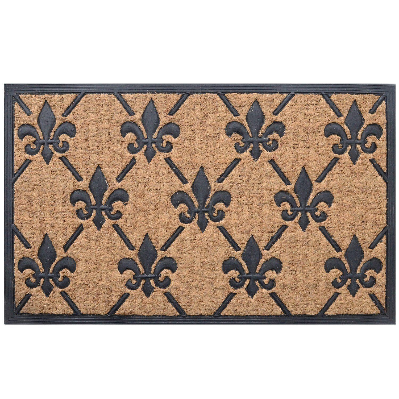 Amazon Com Milliard Fleur De Lis Eco Friendly Decorative Coco Coir Outdoor Entrance Doormat 18in X30in Fluer Outdoor Door Mat Door Mat Front Door Mats Fleur de lis door mats