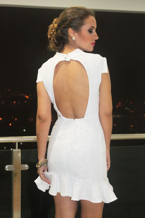 Look Vestido Branco Com Renda Curto Aberto Costas2 Vestido