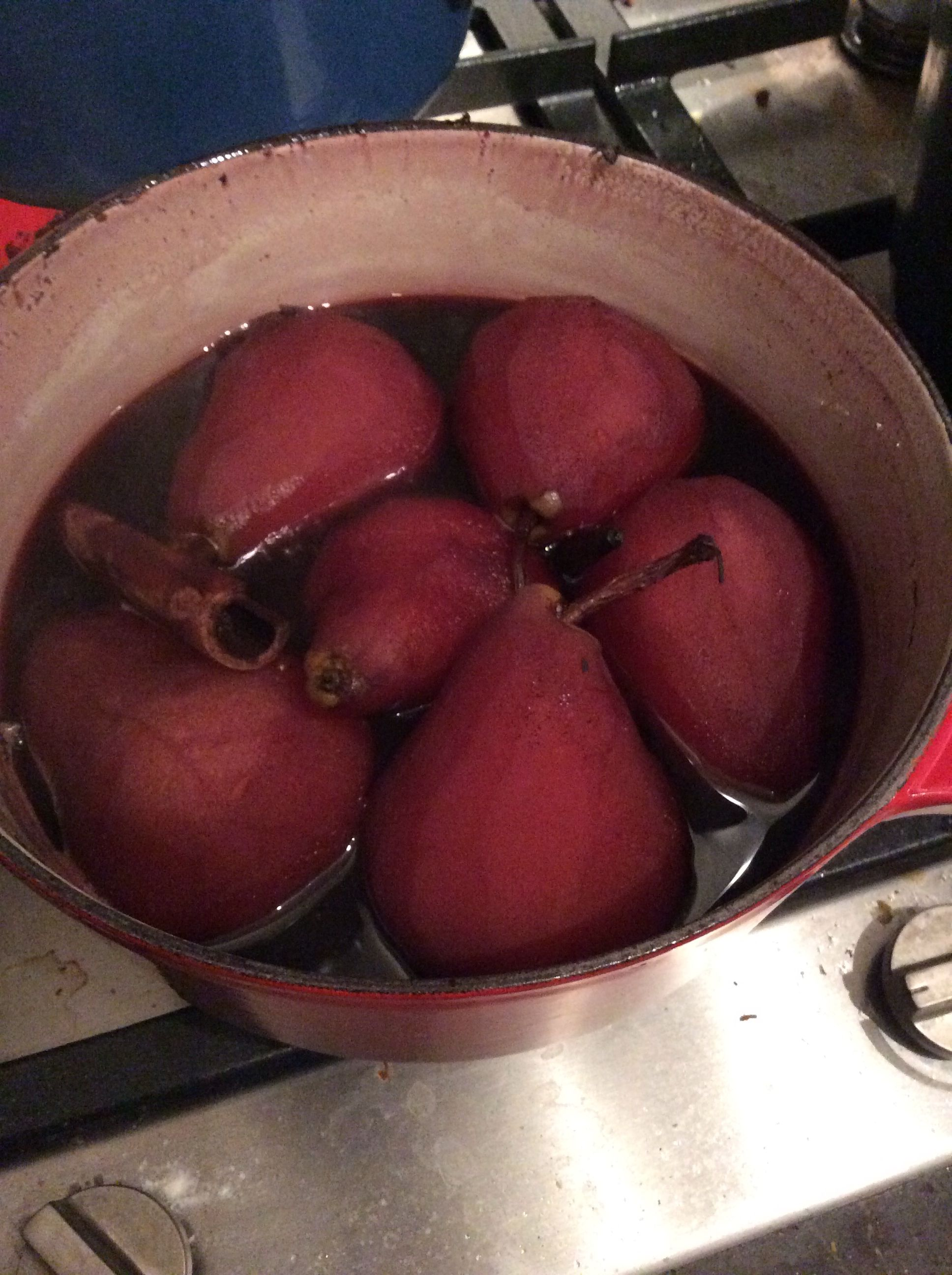 Poached Pears In Red Wine Orange Vanilla And Orange Pears In Red Wine Poached Pears Food