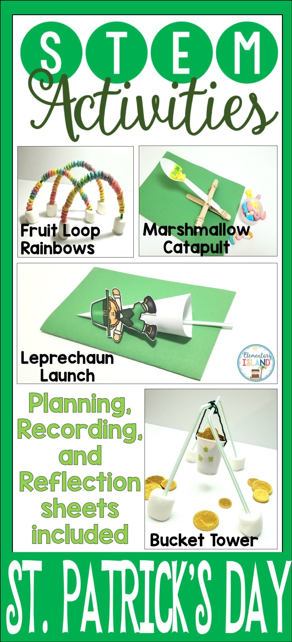 March St. Patrick\'s Day STEM Engineering Challenges | Stem ...
