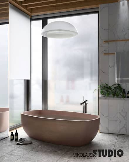 Freistehende Badewanne im Bad  moderne Badezimmer von