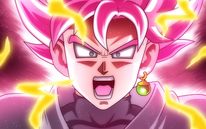 Black Goku Fondo De Pantalla And Fondo De Escritorio: Descargar Fondos De Pantalla Goku, 4k, Dragon Ball Z, Rosa