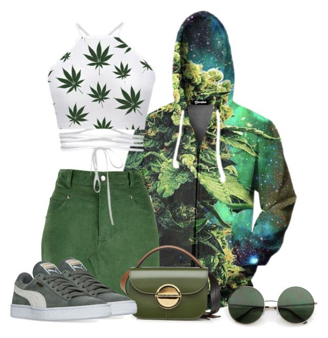 """Ganja Green"" by ohitsjanedoe ❤ liked on Polyvore featuring Marni and Puma"
