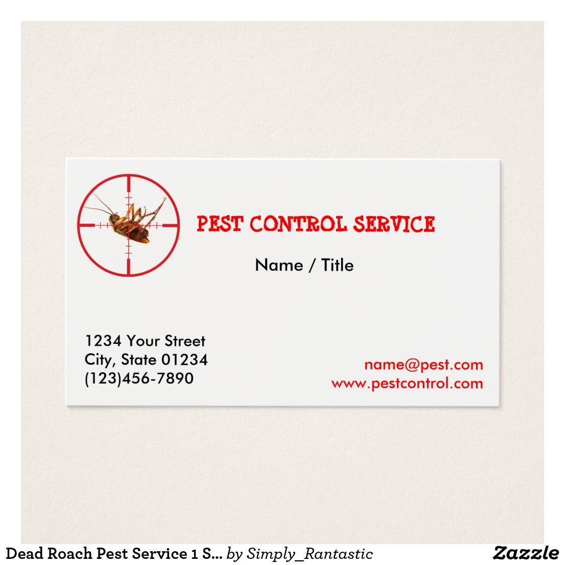Dead Roach Pest Service 1 Sided Business Card