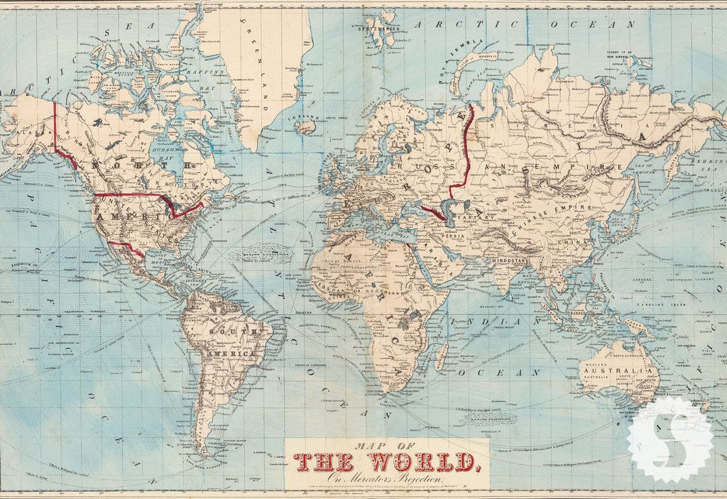Map of the World | Swag Paper Premium Quality Wallcoverings