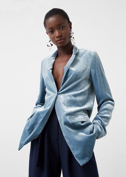 MANGO Velvet Blazer on ShopStyle | Stile di moda