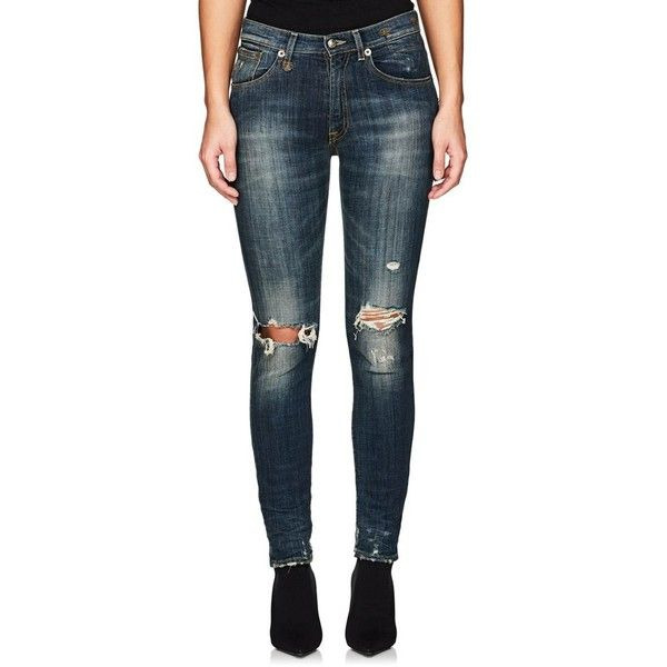 distressed jeans - Blue R13 AnLsg3Mta2
