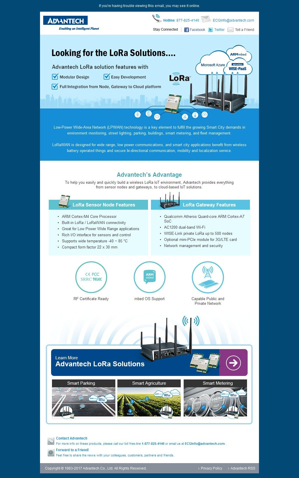 Advantech Looking for the LoRa Solutions…. (With images