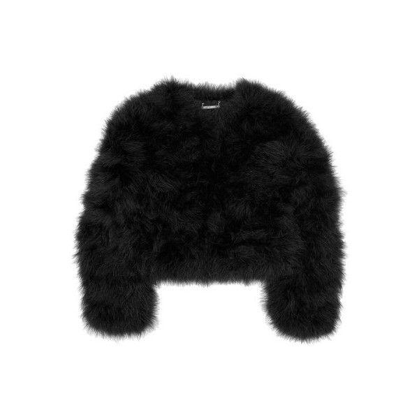 Diane von Furstenberg Jesse marabou feather jacket ($200-500) ❤ liked on Polyvore featuring outerwear, jackets, tops, coats, diane von furstenberg, feather jackets and diane von furstenberg jacket