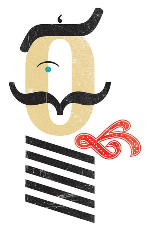 Typographic Characters by Leanda Xavian