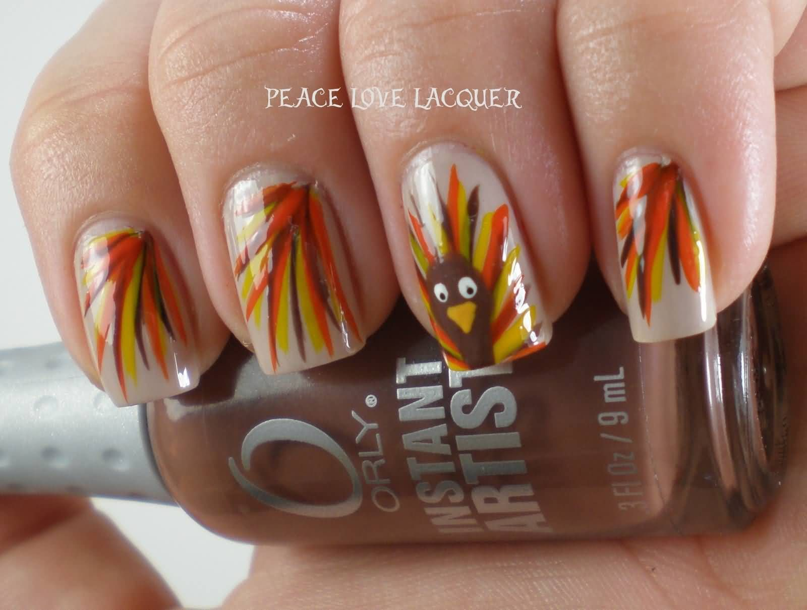 40 Beautiful Thanksgiving Nail Art Designs For Fall Season ...