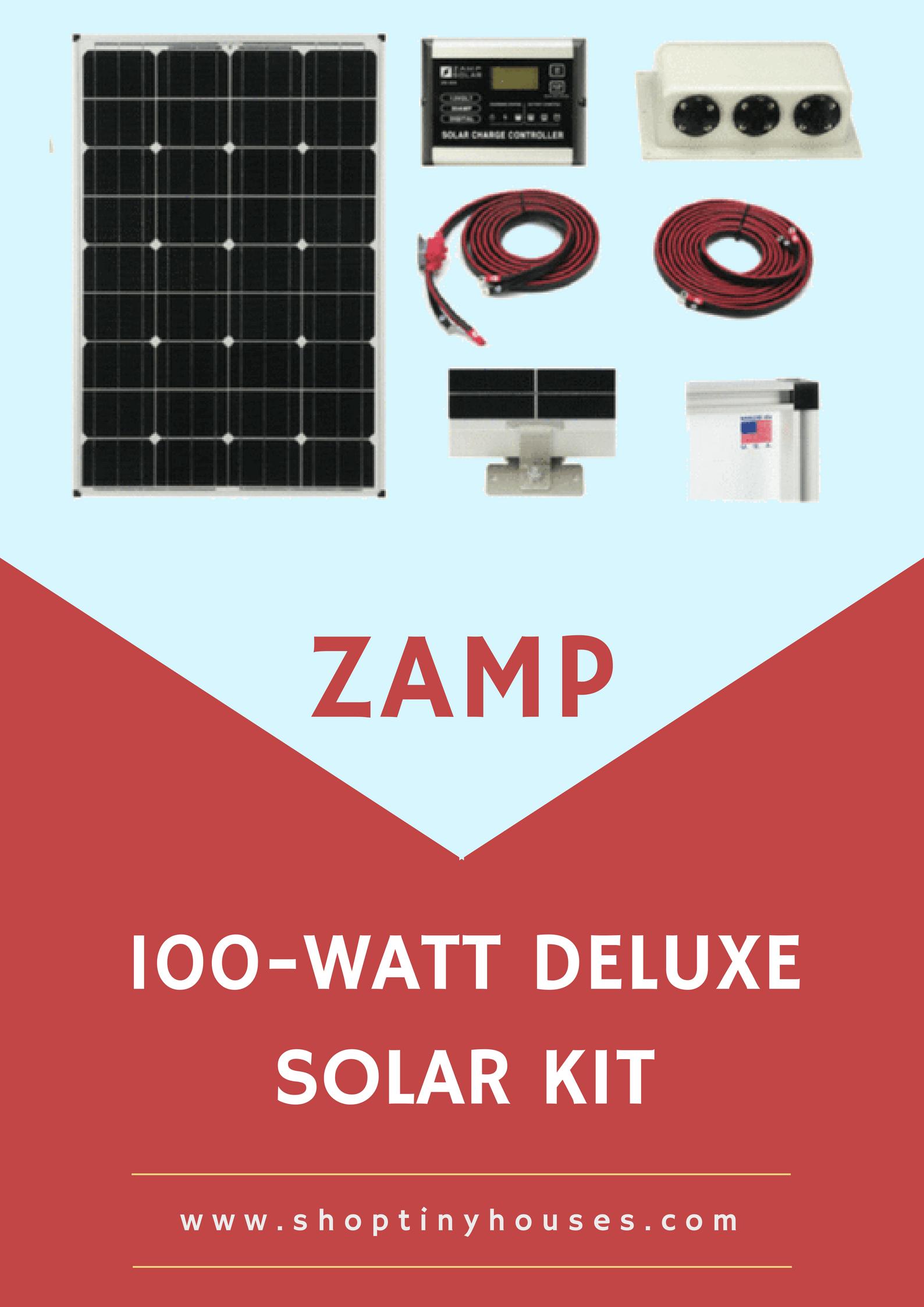 Zamp 115 Watt Deluxe Solar Kit Solar Kit Solar Panels Solar
