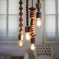 Amazing Wood Turned Bright Beads Pendant Lights By Marz Design Australia Love The Idea Of Creating Wooden Pendant Lighting Unique Pendant Lights Beaded Lamps