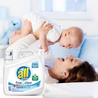 All Ultra Free Clear Odor Relief He Liquid Laundry Detergent