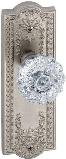 I Like Pretty Door Knobs With Plates. Polished Chrome U0026 Glass Doorknob
