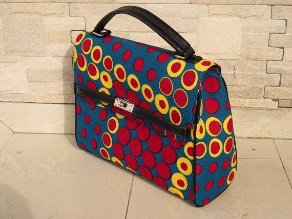 African Fabric Handbag Ankara Print