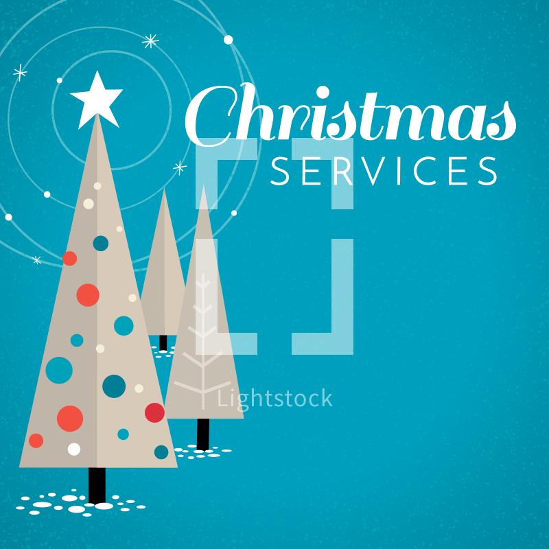 Retro Vintage Christmas Tree Graphic Christmas Graphic Design Christmas Tree Graphic Christmas Stock Photos