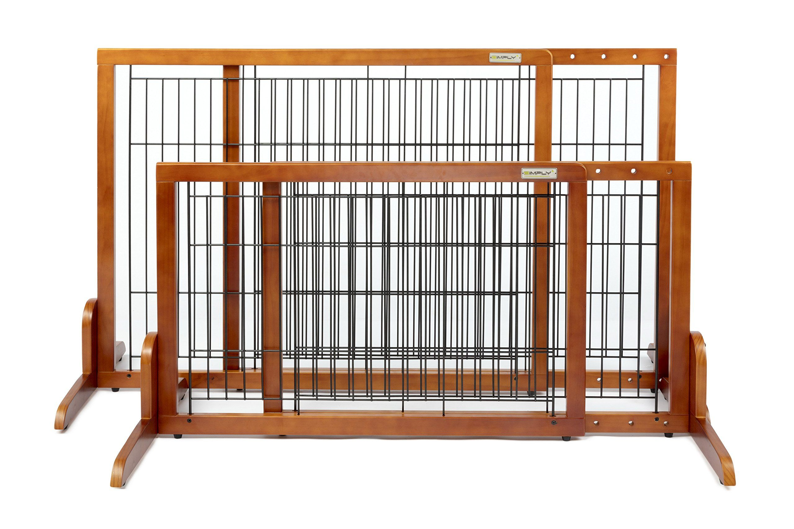 Simply Plus Wooden Pet Gate No Door Freestanding Pet Dog Gate For Indoor Home And Office Use Keeps Pets Safe Easy Set Up N Wooden Pet Gate Pet Gate Dog Gate