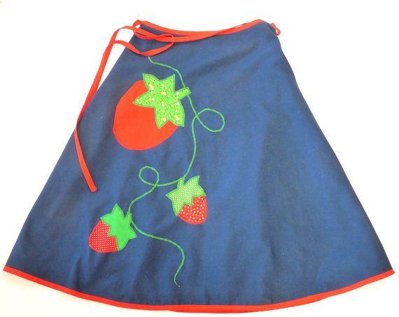 Applique wrap skirt med lg strawberries mice alfredo s wife circa