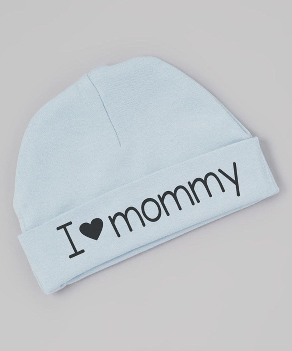 Another great find on #zulily! Initial Request Blue 'I Love Mommy' Beanie - Infant by Initial Request #zulilyfinds