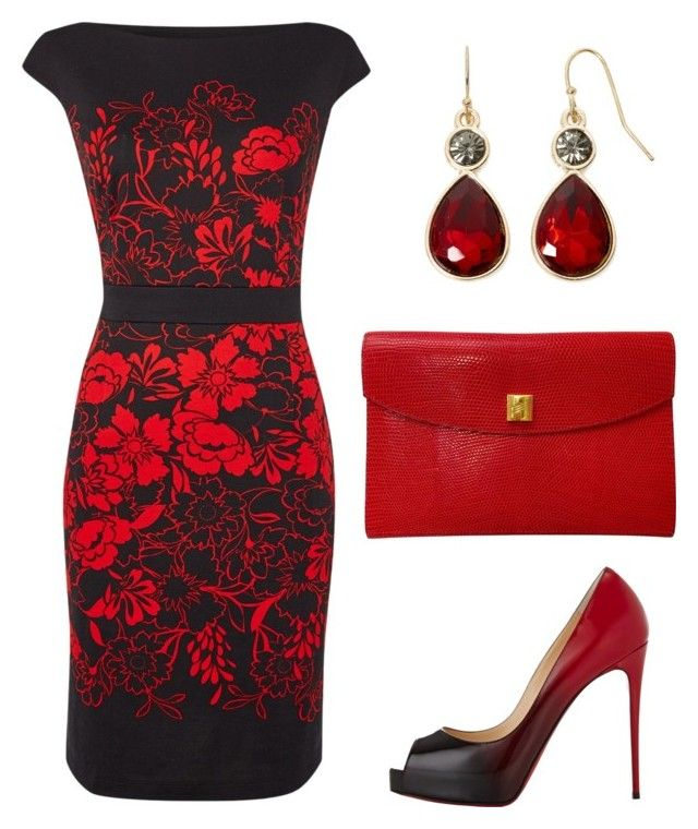 Lady In Red Liz Claiborne Christian Louboutin And Christian