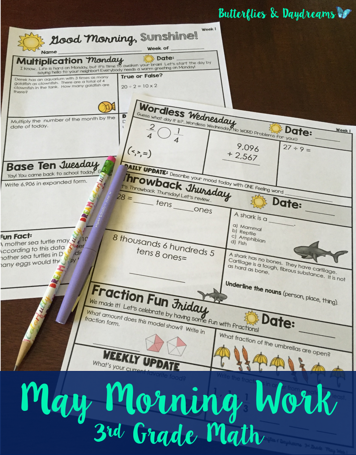 Math Morning Work For 4th Grade August Good Morning Sunshine Multiplication Monday Base Ten Tuesday Math Morning Work Teacher Favorite Things Morning Work [ 1070 x 736 Pixel ]
