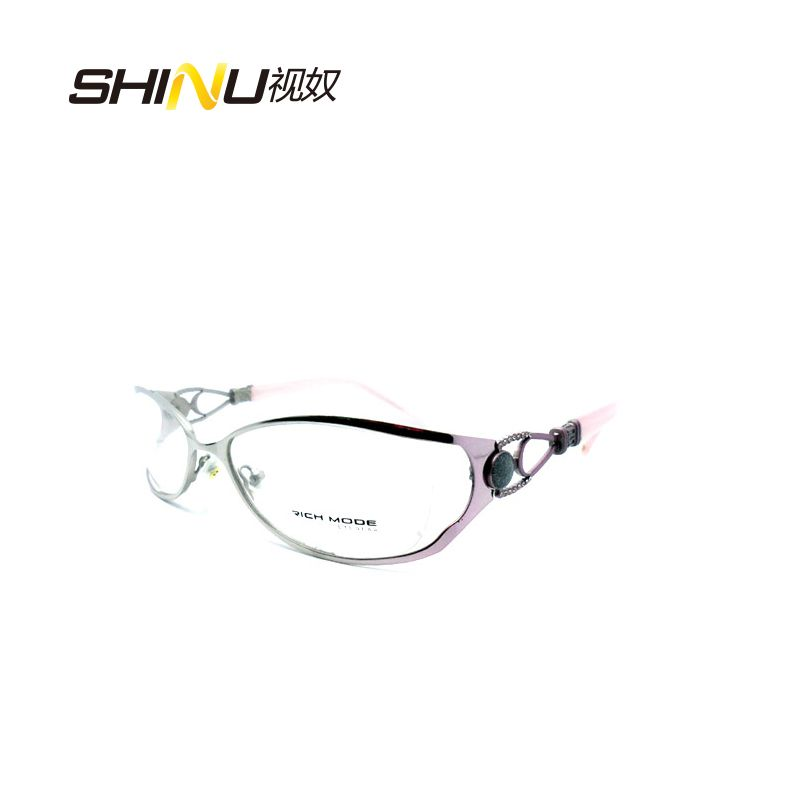 High Quality Women Fashion Glasses Frame Metal Optical Eyeglasses Frame Oculos De Grau Prescription Computer Eyewear Frame RM397