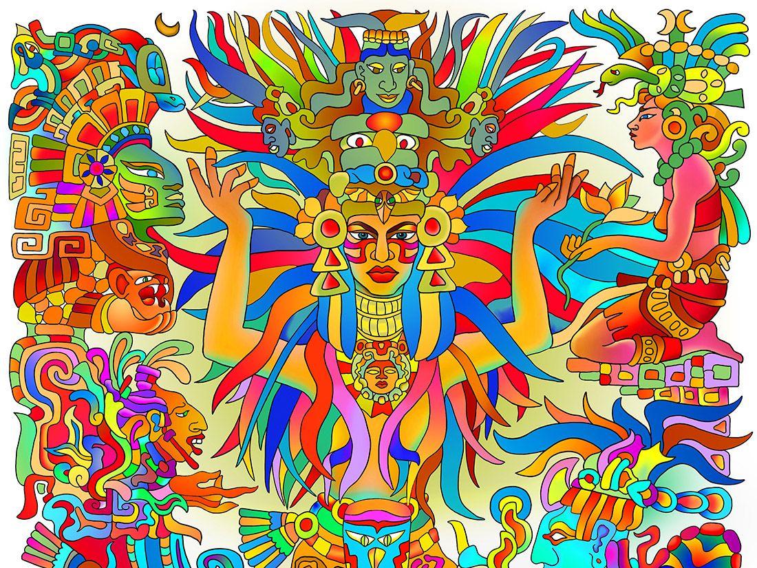 Like many goddesses of love and beauty, Aztec Xochiquetzal ...