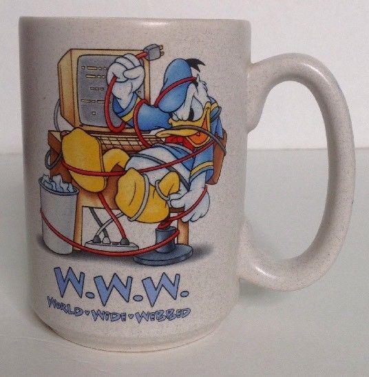 Donald Duck - Www World Wide Webbed - Walt Disney World - Mug ...