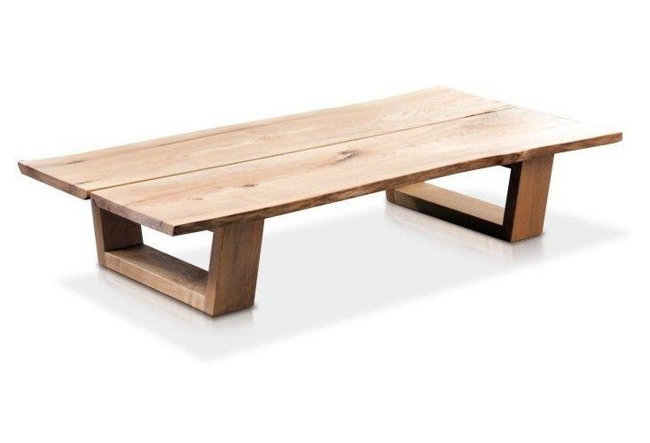 Solid Wood Coffee Table Scandinavian Minimalist Japanese Style