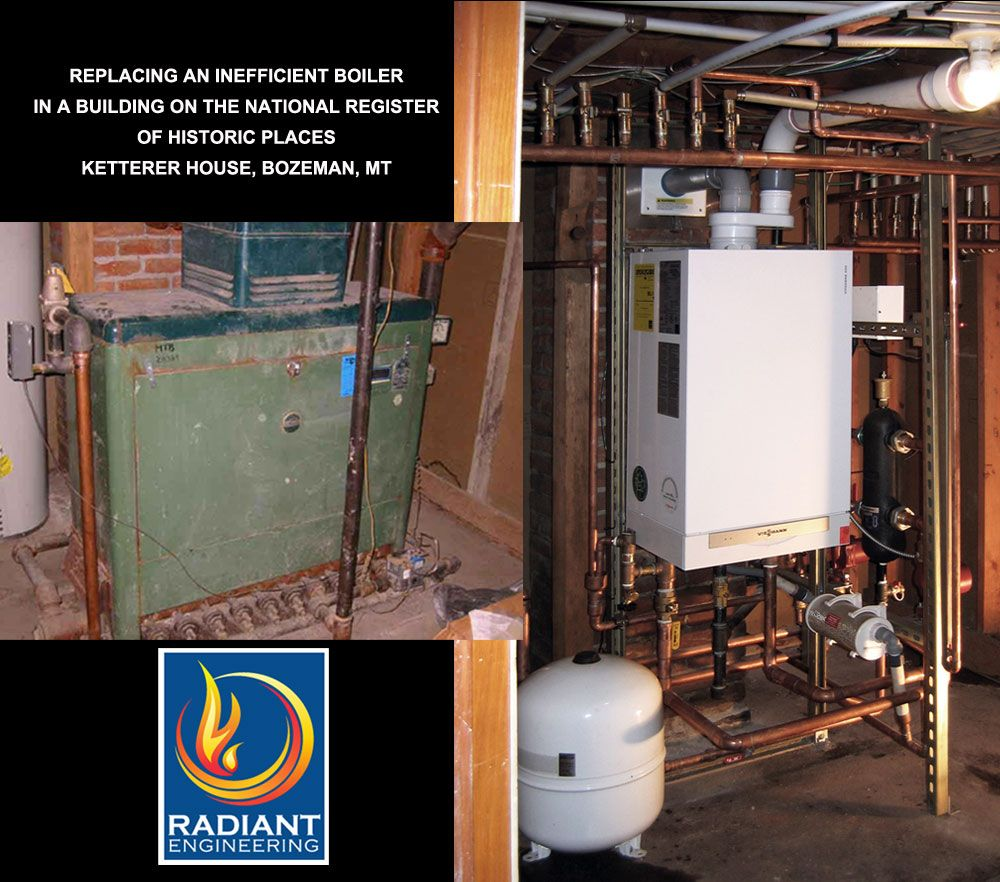 Retrofits Before And After Radiant heating system