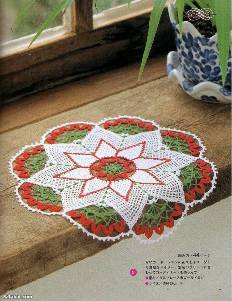Tapete de ganchillo multicolor crochet centro de mesa - Centros de mesa de ganchillo ...