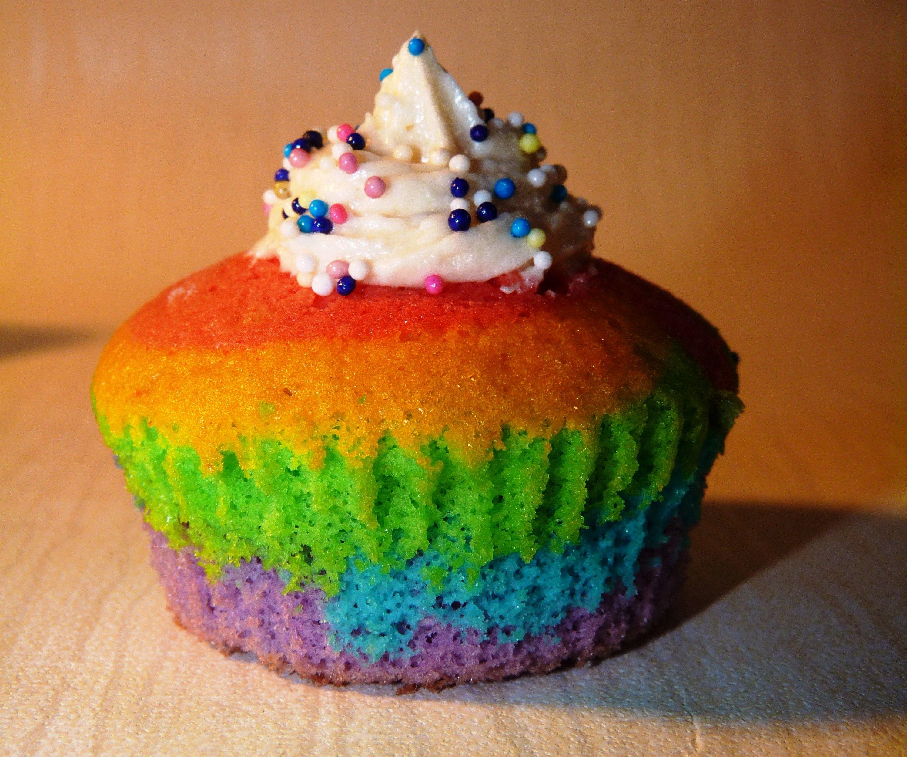 multi coloured cupcakes
