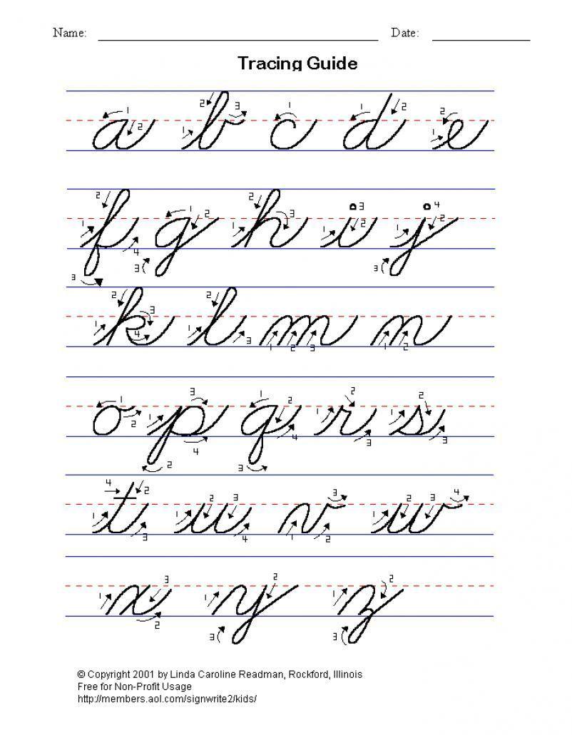 Cursive Handwriting Alphabet : cursive, handwriting, alphabet, Erica, Christenson, Handwriting/Cursive, Cursive, Writing, Worksheets,, Practice,
