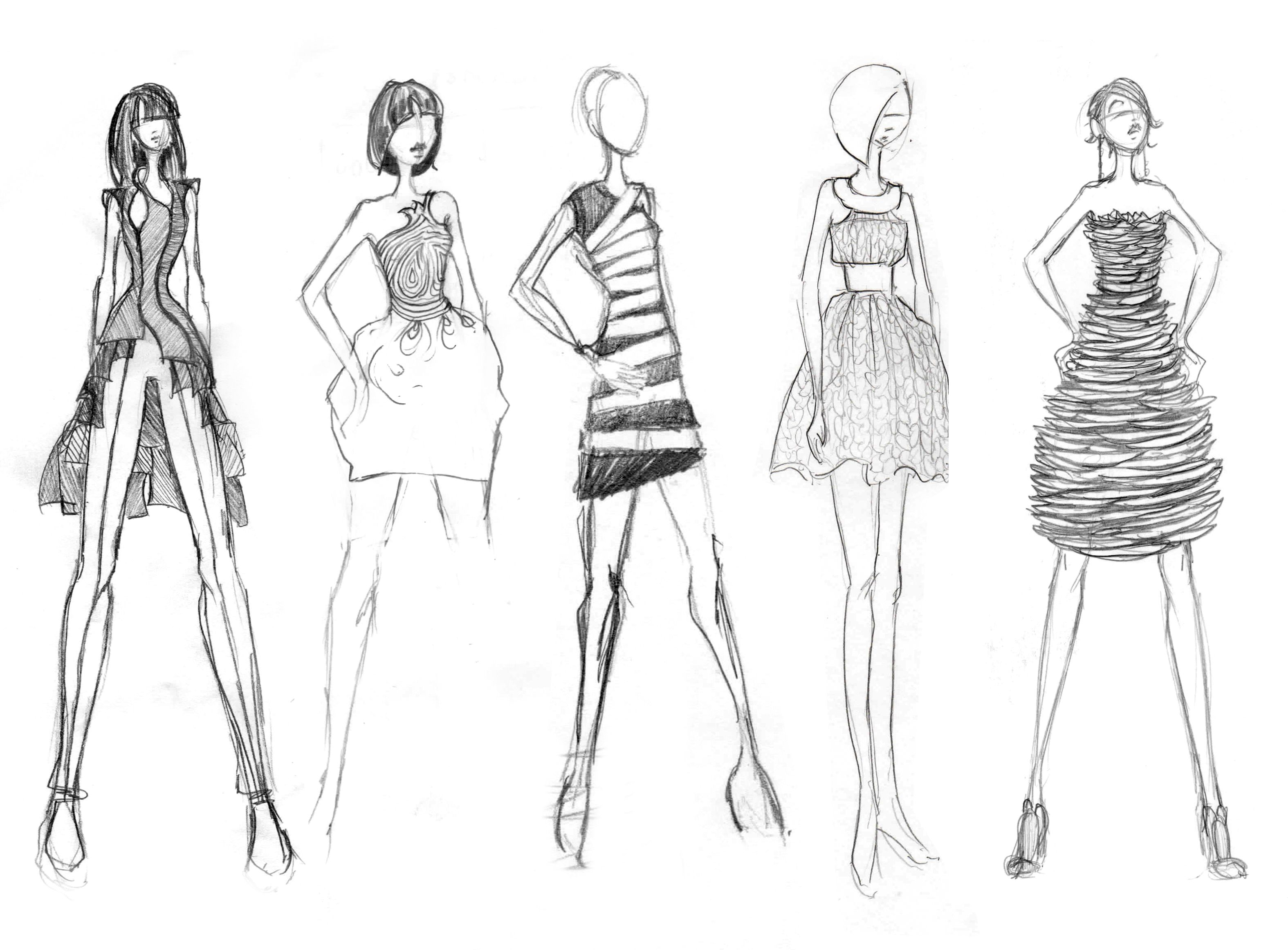 17 best images about fashion sketches on Pinterest | Fashion ...
