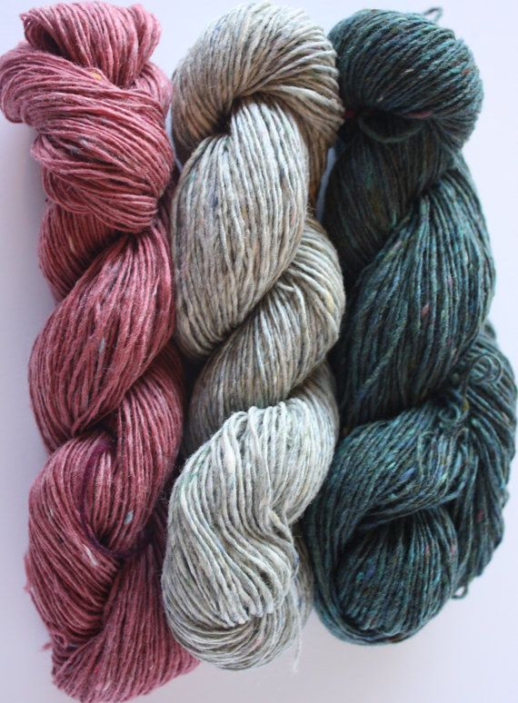 Spinning Yarns Weaving Tales -  Vintage Rose Sample Pack - 100% Merino Laceweight Yarn for Knitting, Crochet, Warp & Weft.