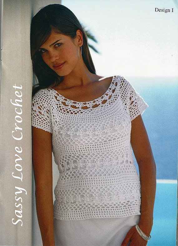 Crochet Lace Top Patternladies Womens Crochet Blouse Summer