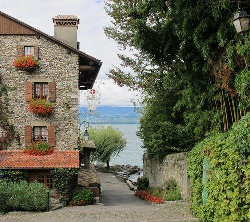 Yvoire Rh´ne Alpes region of France right on Lake Geneva