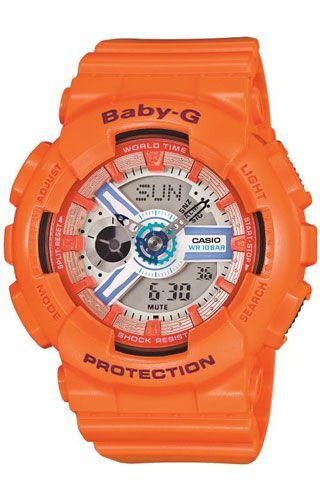 Casio Baby G Ba 110sn 4aer Orange Ba 110sn 4aer Orange Casio Watches Casio G Shock Orange Watches G Shock