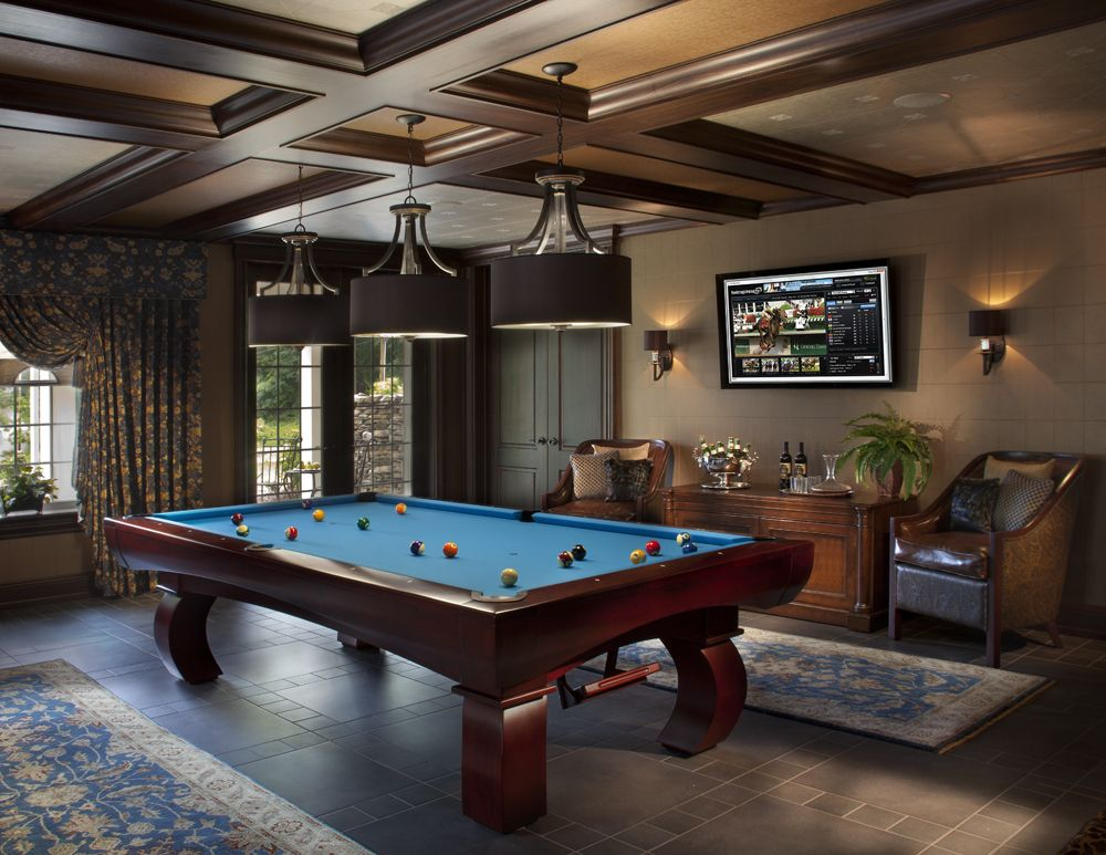 Billiard Room With Seating Blue Pool Table Pool Table Room Billiard Room Billiards